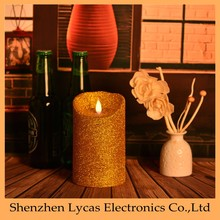 Home Decoration Pieces Ivory Wax Flameless Moving Wick Candle