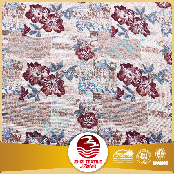 70% polyester 30% cotton floral sofa fabric for home textile