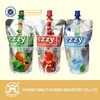 Plastic laminated reclosable spout water/beverage/wine/sauce/oil/honey/juice pouch with 250ml/350ml/500ml/750ml/1000ml