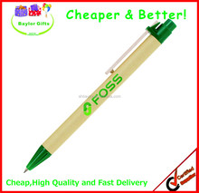 2015 give away Wholesale custom logo printed Recycled paper pen