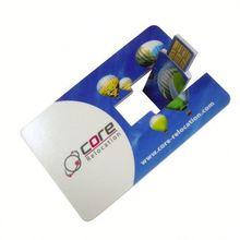 venta al por mayor freesample hotselling tarjeta de crédito usb flash de 8gb de memoria