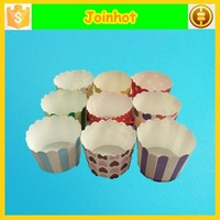 Wholesale ripple 7 oz disposable paper baking cups for cupcakes