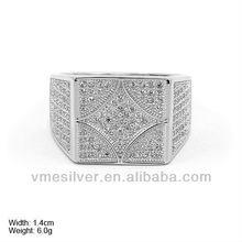 De ley 925 hombres anillo de plata, 925 de plata esterlina del anillo de hombre, anillo de venta al por mayor