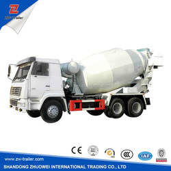 China NEW designed 2 axles 6 , 7 , 8, 9 ,10 ,15 cubic meter concrete mixer truck / mixer concrete truck trailer