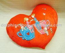 plush&stuffed valentine heart-shape cushion,soft cushion toy