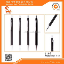 Black lacquer retackable pen customized color pen