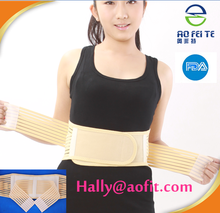 China manufacturer OEM and ODM are welcomed exercise exercise black lower back support belt/waist trimmer belt for Injury Pain