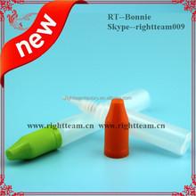 1/2oz Stock HDPE pen design dropper bottle, pe dropper bottles, red childproof cap
