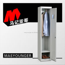 factory direct sale steel locker with cloth hanger and shelf/clothes cabinet