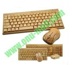 New Arrival Super Cool Bamboo Wireless Keyboard and Mouse for Computer