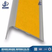 Yellow concrete aluminum outdoor stair treads non slip for ceramic tile