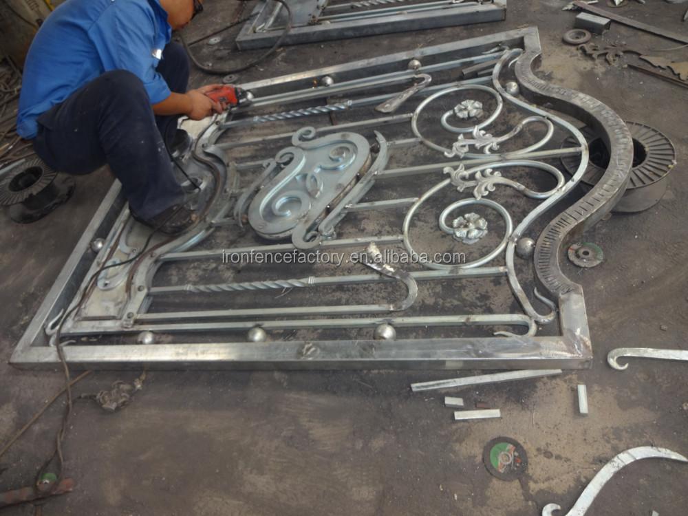 Haute qualit d coration en fer forg fen tre grill design for Fenetre a fer maille et verre dormant