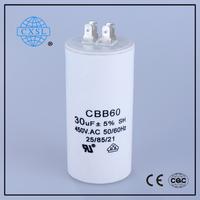 Capacitor for refrigrator cbb60 18uf 250v