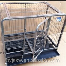 Large Steel Heavy Duty Square Tube Dog Cage For Sale