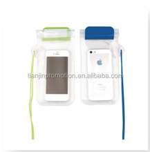 Cheap PVC waterproof cell phone neck pouch with sealed pocket
