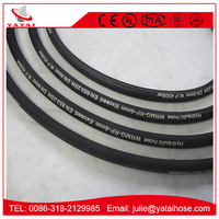 Two Steel Wire Reinforced Yokohama Rubber Hose Hydraulics