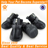 2014 JML PU leather and breathable mesh dog boots