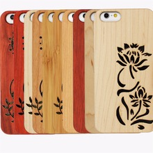 Mobile Phone Accessories Factory in China Custom for iphone 6 Wood Case