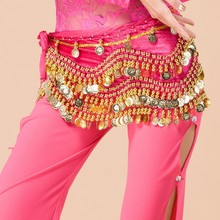 Egyptian style gold coins velvet top quality belly dance hip scarf belt Y-2030#