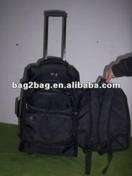 trolley notebook backpack /trolley backpack with wheels /kids school trolley backpack