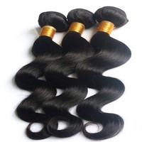Top Quality #1B Natural Color 100% Peruvian Human Hair