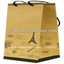 cmyk de impresión de papel kraft bolsa de papel para ir de compras