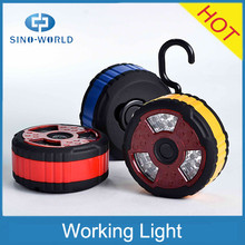2015 hot products good quality battery operated magnetic led portable work light with a hook