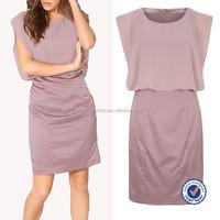 alibaba china dresses online shopping mature ladies satin silk dresses with crepe trim