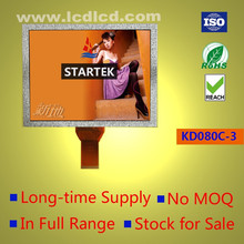 8.0 inch TFT LCD display panel,800*600 pixels,24 bit RGB interface,4:3 aspect ratio,Landscape