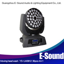 36 x 12w LED Moving Head Wash Light DJ with Zoom