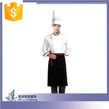 Fashion poly cotton cheap chefs hotel restaurant uniform