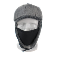 2015 High Quality Faux Fur Aviator Hats Russian Hat Sport Outdoor Earflaps/masks Bomber Lei Feng Caps