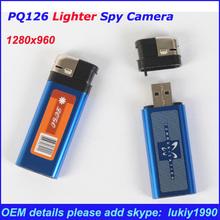 Fashional mini dv usb lighter camera video recorder, hidden camera small wireless mini camera PQ126