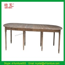 Simple design white oak wood dining table and chairs designs in wood