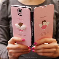 PU leather mobile phone flip case cover with fashional colorful painting for Sumsung S3 S4 S5 S6 A7 CO-LTC-1050