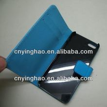 High quality low price leather flip case forfor iphone5