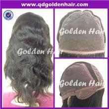 No Tangle No Shedding Gluless Unprocessed 5A Grade Human Virgin Peruvian Hair Wig