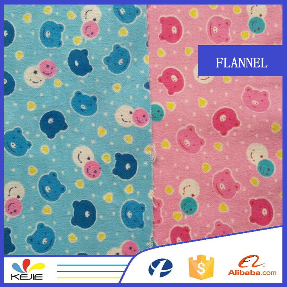 Children clothes in cotton fannel fabric and cartoon for Cotton fabric for children s clothes