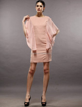 Spring, summer, the new women's bat sleeve round collar dress, Han edition cultivate one's morality dress fashion temperament