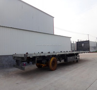 Three axles flat bed truck body parts with bars