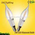 precio compective bombillas de luz led para la venta 2w
