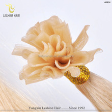 China factory wholesale top quality virgin remy u tip nail hair extention 1g/s