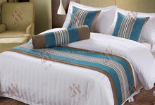 High-class hotel luxury chenille fabric bed runners and comfortable bed throw scraves for baby,elegant cushion cover