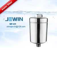 Bathroom chromed shower filter to remove chlorine