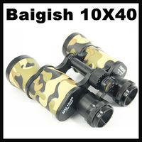 MOQ=20PCS Baigish 10X40 Binocular Metal Binocular Camouflage