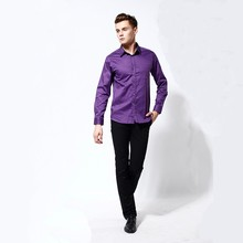Factory custom business mens formal plain long sleeve shirts