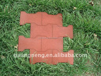 Playground/ Colorful/Anti-Abrasive Rubber Tiles, Interlocking Outdoor Rubber Floor Tiles