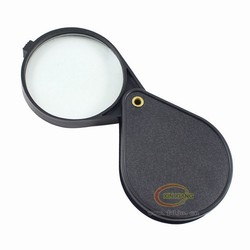 Foldable magnifying glass with glass lens with ABS plastic frame