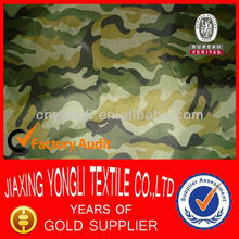 100% Polyester waterproof camouflage fabric