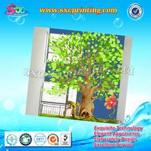 çıkarılabilir aile ağacı duvar sticker, yeşil ağaç dekorasyon duvar sticker, duvar dekor çıkartmaları ağacı